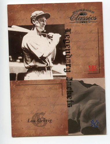 Photo of 2004 Donruss Classics Legendary Jackets #50 Lou Gehrig