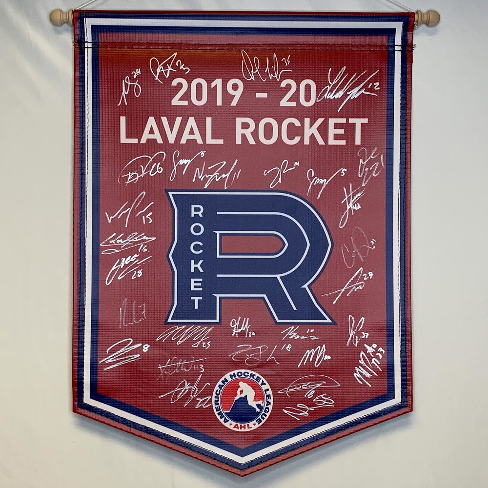 2019-20 Laval Rocket Team-Signed Banner