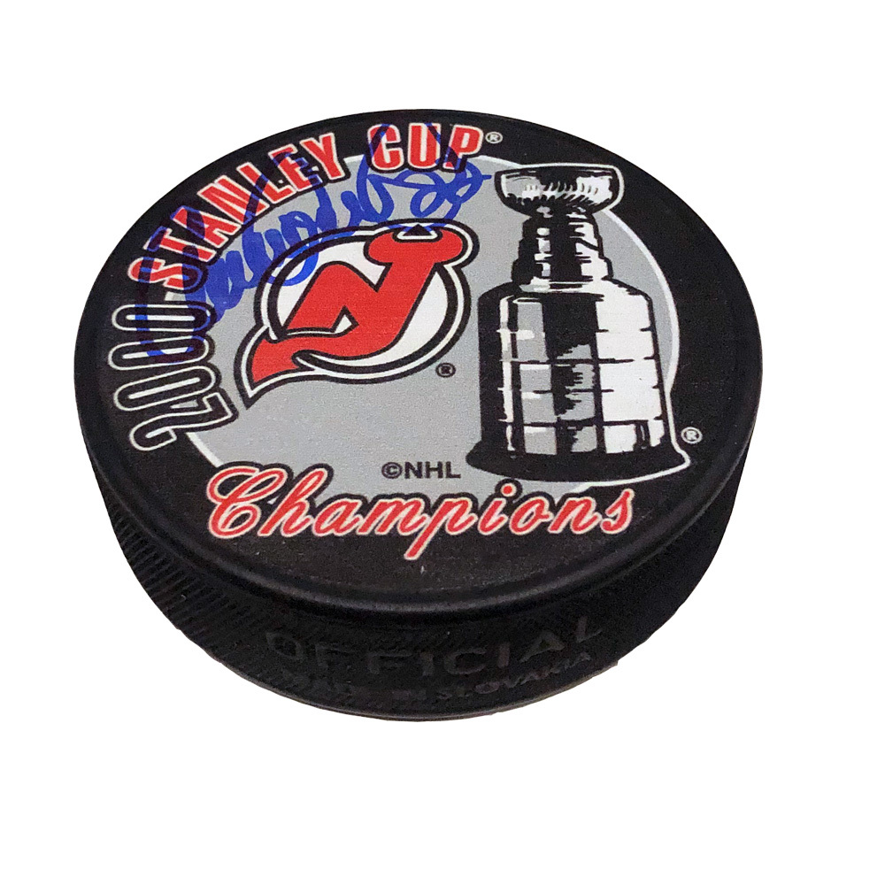 CLAUDE LEMIEUX Signed 2000 Stanley Cup Champions Puck - New Jersey Devils
