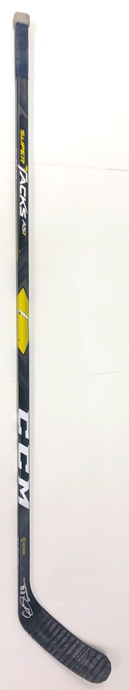 #82 Caleb Jones Game Used Stick - Autographed - Edmonton Oilers