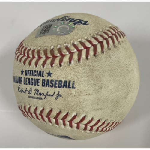 Photo of Game-Used Baseball - Jose Ramirez 2-Run Home Run off Pitcher Cody Reed - 8/6/2020 - Reds at Indians