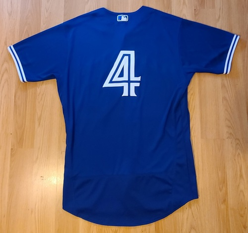 Photo of Authenticated Team Issued Spring Training Jersey: #4 George Springer (2021 Season). Size 46.