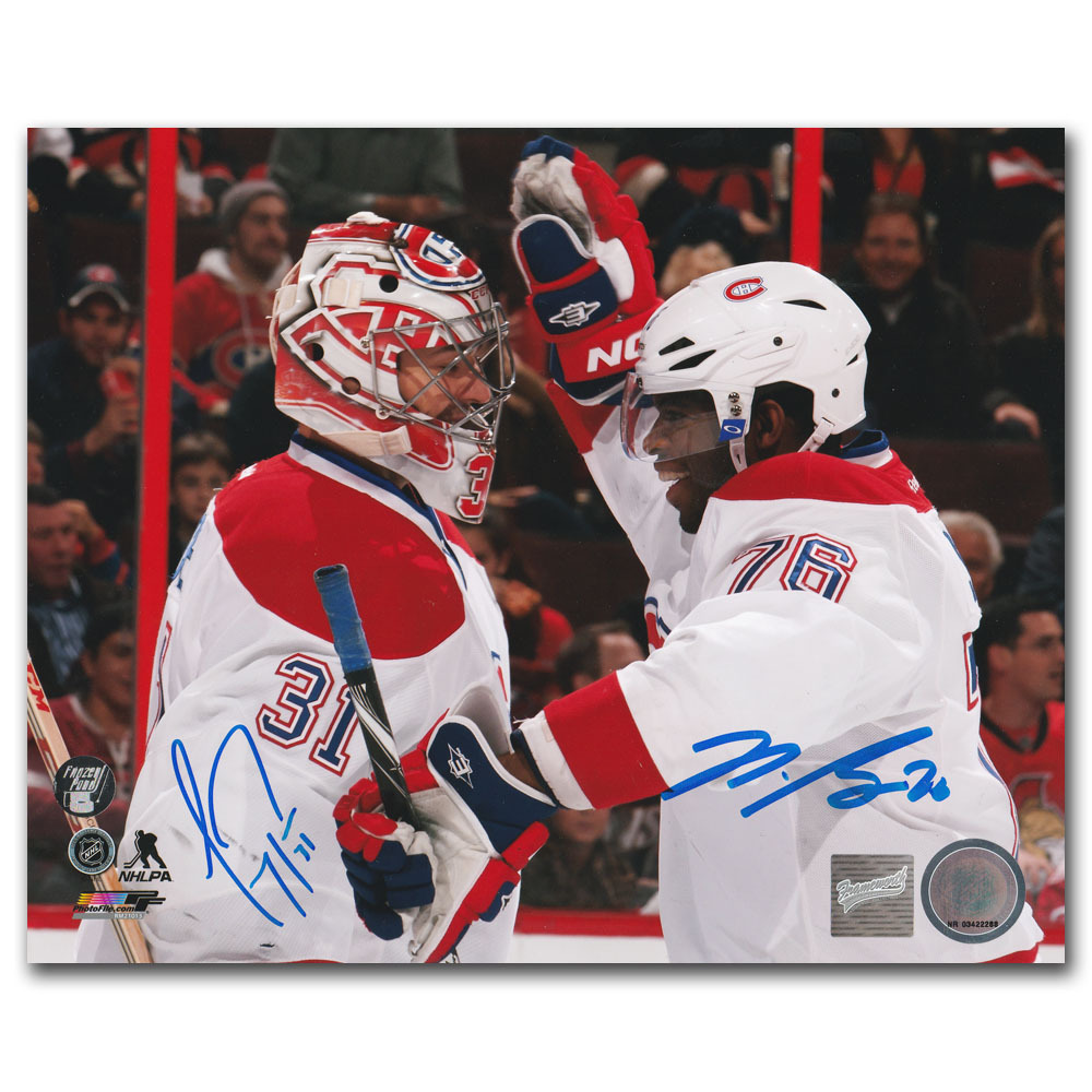 Carey Price & P.K. Subban Autographed Montreal Canadiens 8X10 Photo