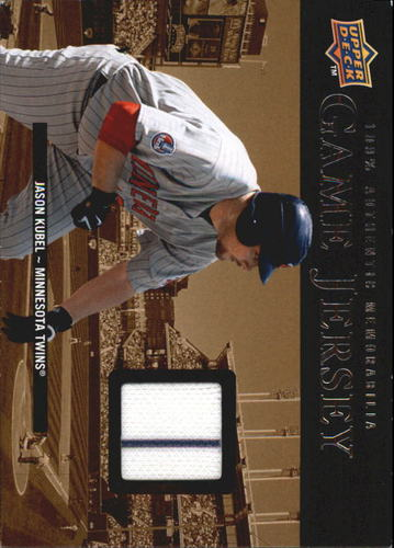 Photo of 2008 Upper Deck UD Game Materials 1999 #JK Jason Kubel