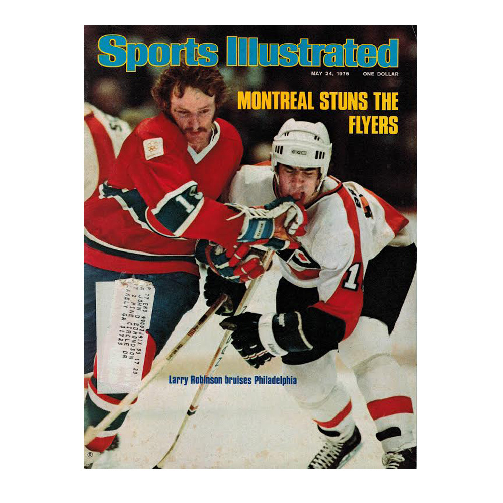 LARRY ROBINSON Sports Illustrated Magazine May 24, 1976- Montreal Canadiens