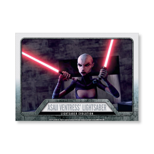 2016 Star Wars Evolution Asajj Ventress' Lightsaber EVOLUTION OF LIGHTSABER Poster - # to 99