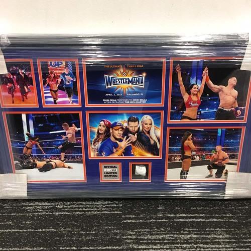 John Cena & Nikki Bella vs. The Miz & Maryse WrestleMania 33 Unsigned Commemorative Plaque (#1 of 500)