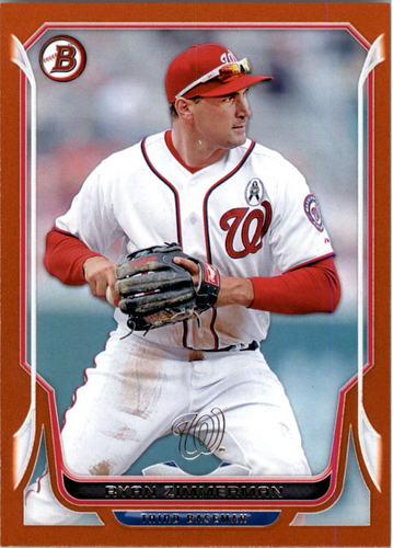 Photo of 2014 Bowman Orange #186 Ryan Zimmerman 171/250