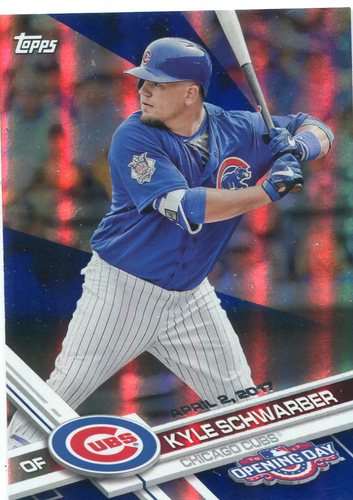 Photo of 2017 Topps Opening Day Blue Foil #150 Kyle Schwarber
