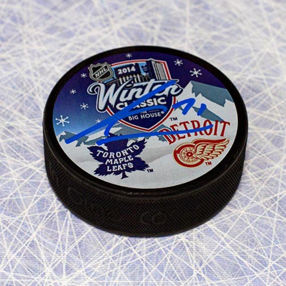 James van Riemsdyk Toronto Maple Leafs Autographed 2014 Winter Classic Puck