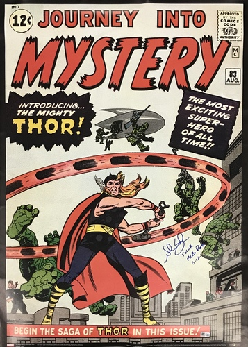 "Photo of Noah Syndergaard ""Thor MLB Debut 5-12-15"" Autographed Journey Into Mystery #83 Comic Cover 20x28 Poster Print"