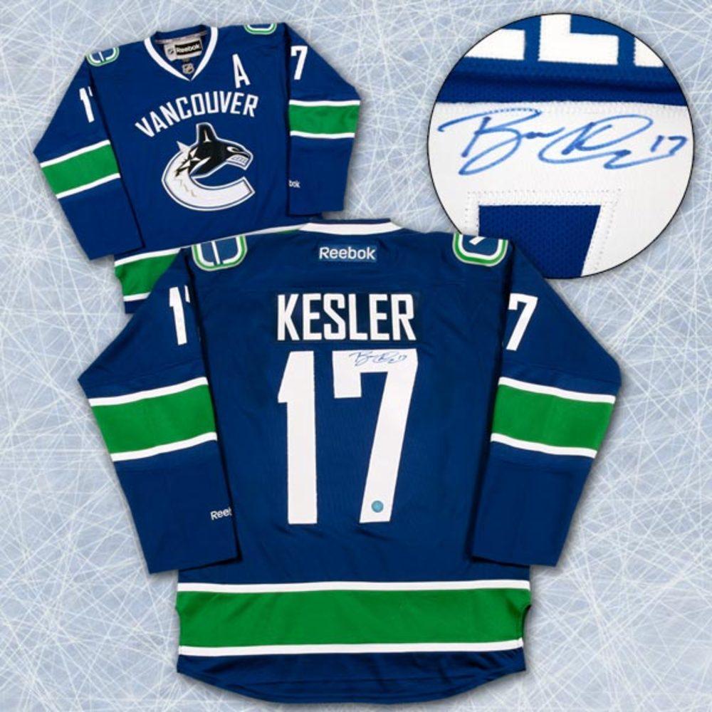 RYAN KESLER Vancouver Canucks SIGNED Reebok Hockey Jersey *Size XXL*