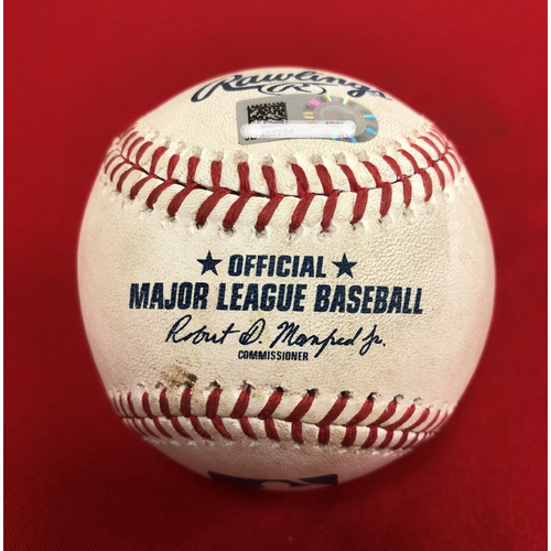 Photo of Player Collected Baseball - Trea Turner Home Run - 6/19/18