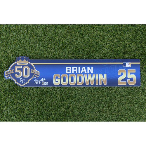 Photo of Game-Used Locker Nameplate: Brian Goodwin