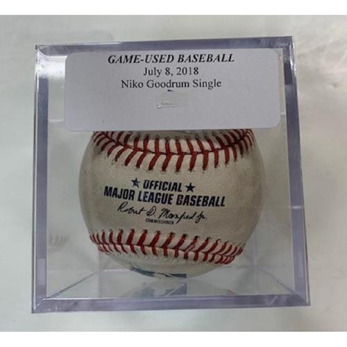 Photo of Game-Used Baseball: Niko Goodrum Single