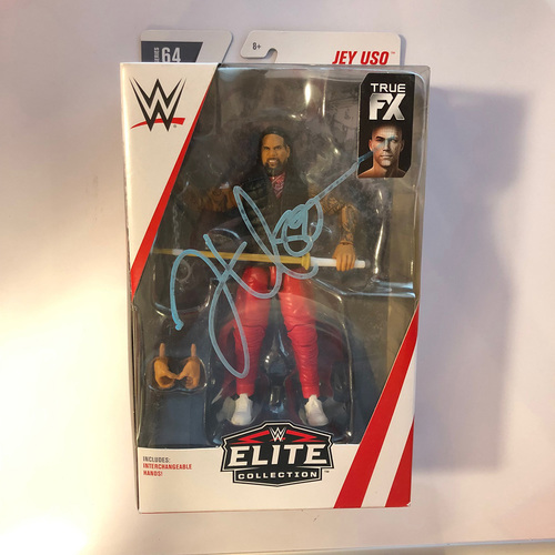 Photo of Jey Uso SIGNED Elite Series 64 Action Figure