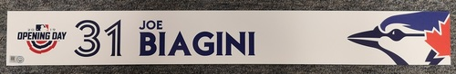 Photo of Authenticated Game Used Opening Day 2019 Locker Tag - #31 Joe Biagini