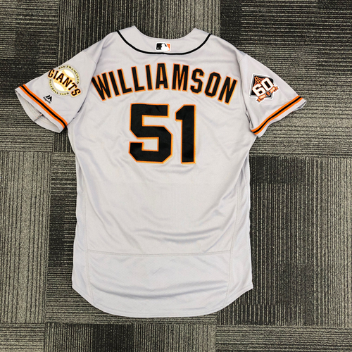 Photo of 2018 Team Issued Road Jersey - #51 Mac Williamson - Size 46