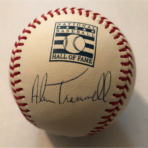 Photo of Alan Trammell Autographed HOF Logo Baseball
