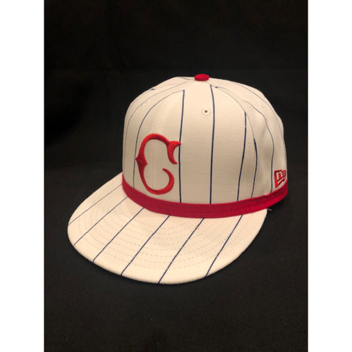 Photo of Kyle Farmer -- Game-Used Cap -- 1919 Throwback Game -- Nationals vs. Reds on June 2, 2019 -- Size 7 1/8