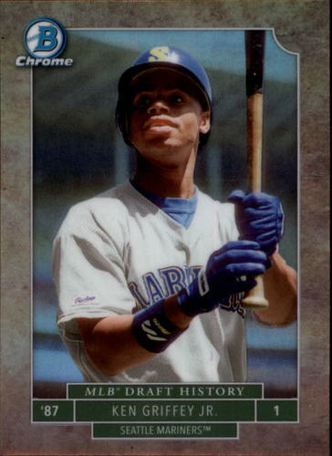 Photo of 2016 Bowman Chrome Draft MLB Draft History #MLBDKGJ Ken Griffey Jr.