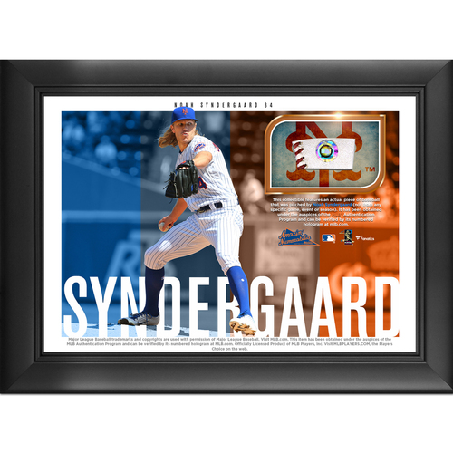 Photo of Noah Syndergaard Game-Used Baseball Plaque