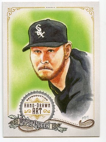 Photo of 2017 Topps Gypsy Queen Hand Drawn Art Reproductions #GQARCS1 Chris Sale