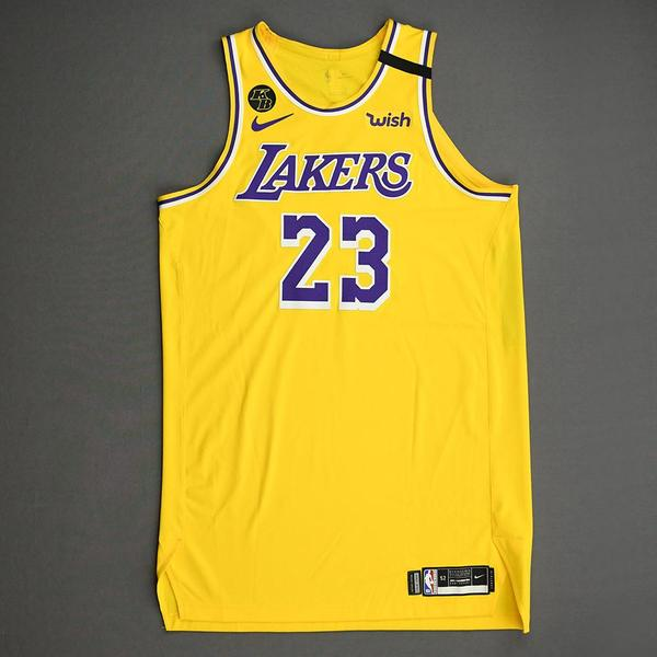 Image of LeBron James - Los Angeles Lakers - Game-Worn Icon Edition Jersey - Worn 2 Games - Recorded 2 Double-Doubles - 2019-20 NBA Season Restart
