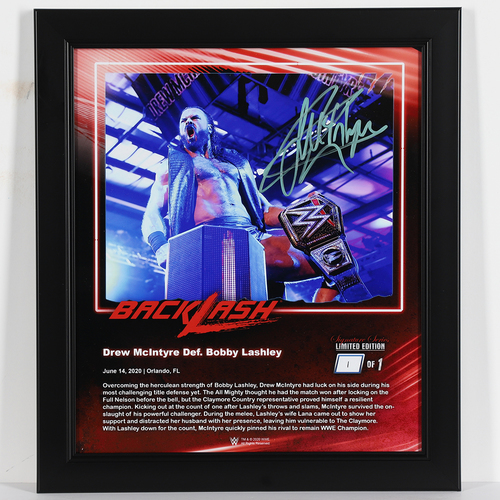Photo of Drew McIntyre SIGNED Backlash 2020 Signature Series Frame (#1 of 1)