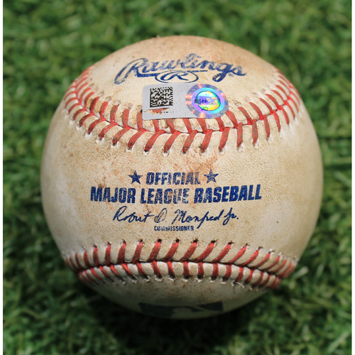 Photo of Alex's Lemonade Stand Foundation: Game-Used Baseball Alex Gordon 120th Career HBP (#120 out of 121 Total Career HBP - 8/22/20 MIN @ KC)