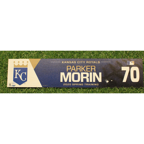 Photo of Game-Used 2020 Spring Training Locker Tag: Parker Morin #70