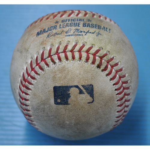 Photo of Game-Used Baseball - 9/18/2020 - STL @ PIT - Pitcher - Trevor Williams, Batter - Yadier Molina, Top 4, Single