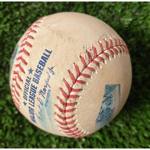 Photo of Sam Clay Pitched Ball to Ronald Acuna, Jr. - 2 Balls and Foul - June 3, 2021