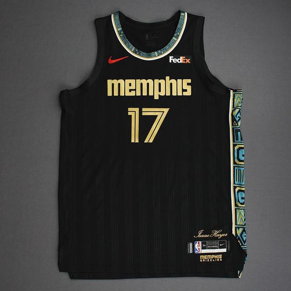 Image of Jonas Valanciunas - Memphis Grizzlies - Game-Worn City Edition Jersey - Recorded a Double-Double - 2021 NBA Playoffs