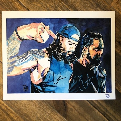 Photo of The Usos SIGNED Rob Schamberger 11x14 Art Print