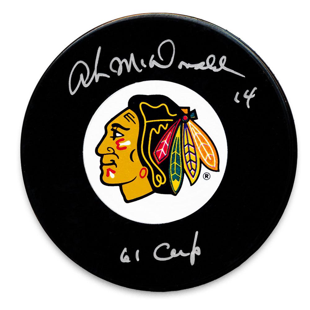 Ab McDonald Chicago Blackhawks 61 Cup Autographed Puck