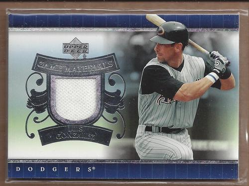 Photo of 2007 Upper Deck UD Game Materials #LG Luis Gonzalez Jersey