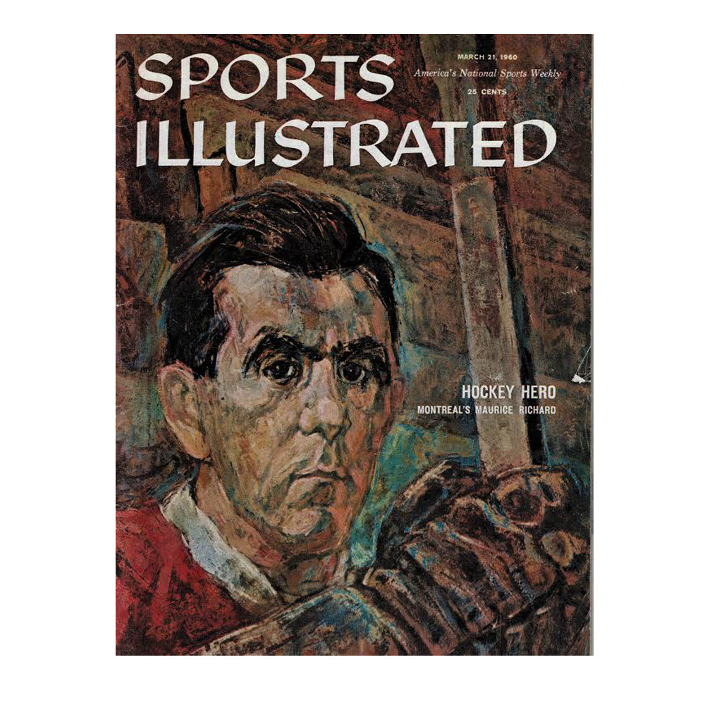 MAURICE RICHARD Sports Illustrated Magazine March 21, 1960- Montreal Canadiens