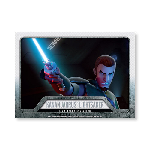 2016 Star Wars Evolution Kanan Jarrus' Lightsaber EVOLUTION OF LIGHTSABER Poster - # to 99