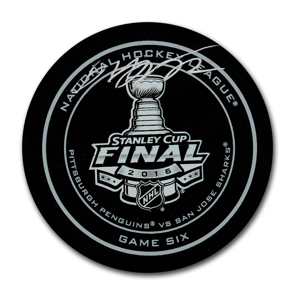 Patric Hornqvist Autographed 2016 Stanley Cup Final Official Game Six Puck