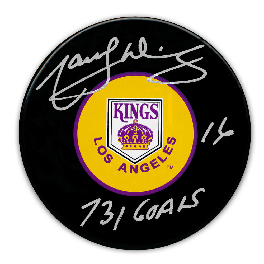 Marcel Dionne Los Angeles Kings 731 Goals Autographed Puck