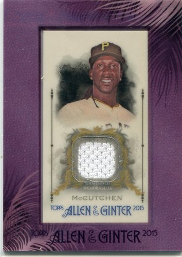 Photo of 2015 Topps Allen and Ginter Framed Mini Relics Andrew McCutchen