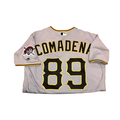 Photo of Jordan Comadena Game-Used Road Gray Jersey