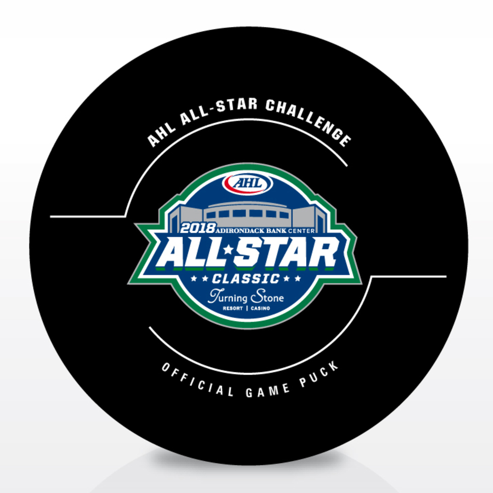 2018 AHL All-Star Classic Goal Puck- #5 Cameron Schilling- Game #5, Goal 2, Central