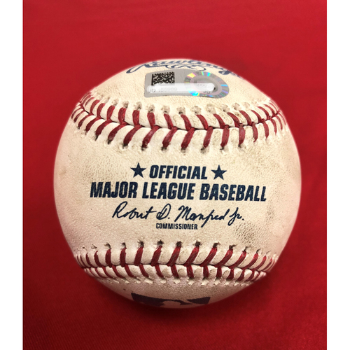 Photo of Game-Used Baseball - Max Scherzer Strikeout - 7/2/18