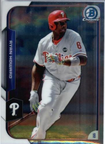 Photo of 2015 Bowman Chrome #18 Ryan Howard