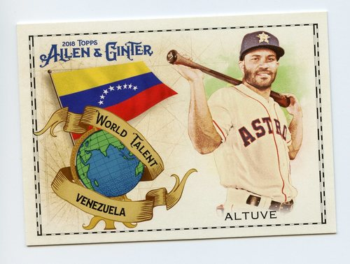 Photo of 2018 Topps Allen and Ginter World Talent #WT43 Jose Altuve