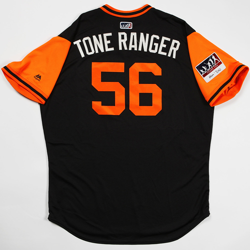 "Photo of Tony ""Tone Ranger"" Watson San Francisco Giants Game-Used 2018 Players' Weekend Jersey"