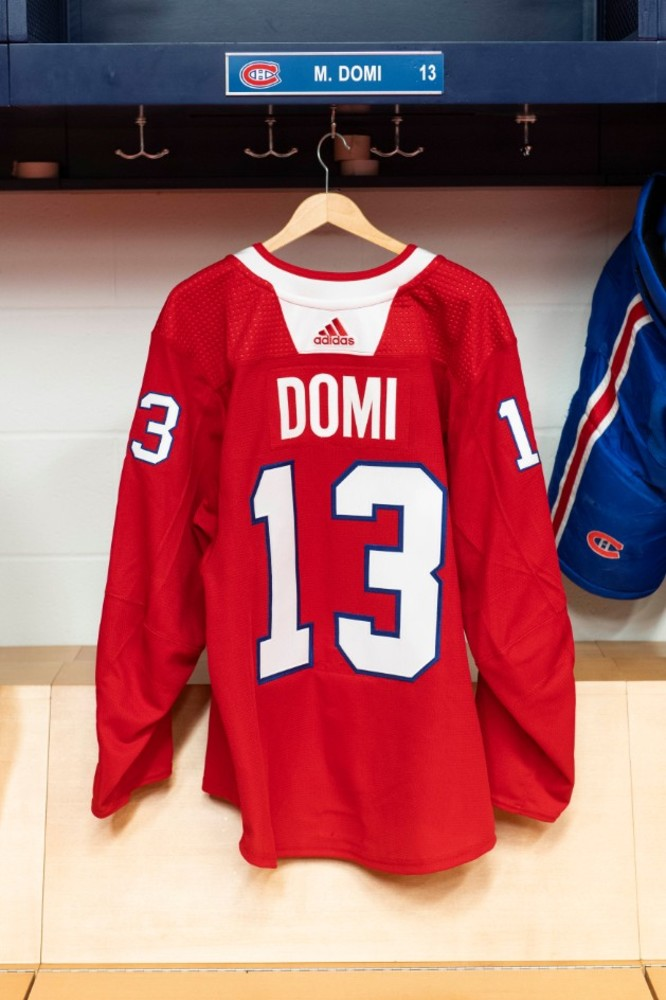 reputable site 4b44b d3b96 13 Max Domi Warm-up worn and autographed Rainbow jersey ...