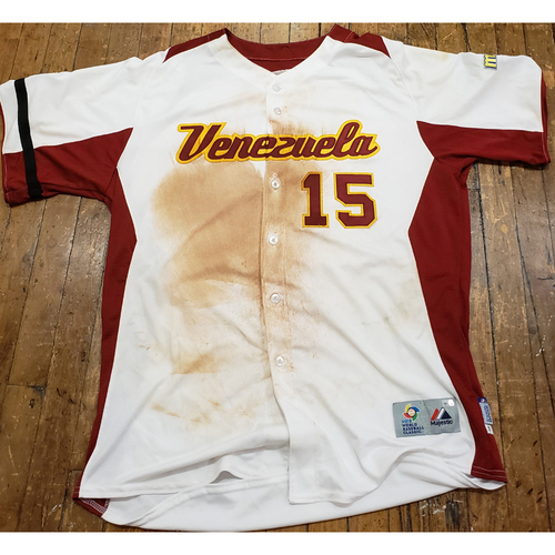 Photo of 2013 World Baseball Classic Game Used Jersey - Salvador Perez - Size 48 (Venezuela)